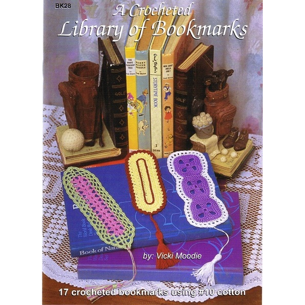 A Crochet Library of Bookmarks