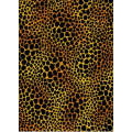 Flannel - Jungle Soul - Leopard Spots, Black on Gold