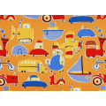 Oh Boy! Transport Scatter - Large on Orange