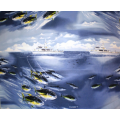 Tom Kelly - Print 3, Tuna - Blue